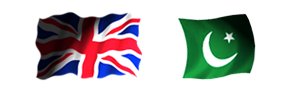 British and Pakistan Flags